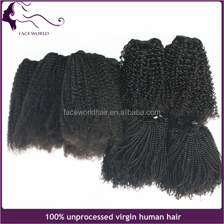 New golden mongolian 4c tight afro kinky curl human hair weave wholesale remy hair extension