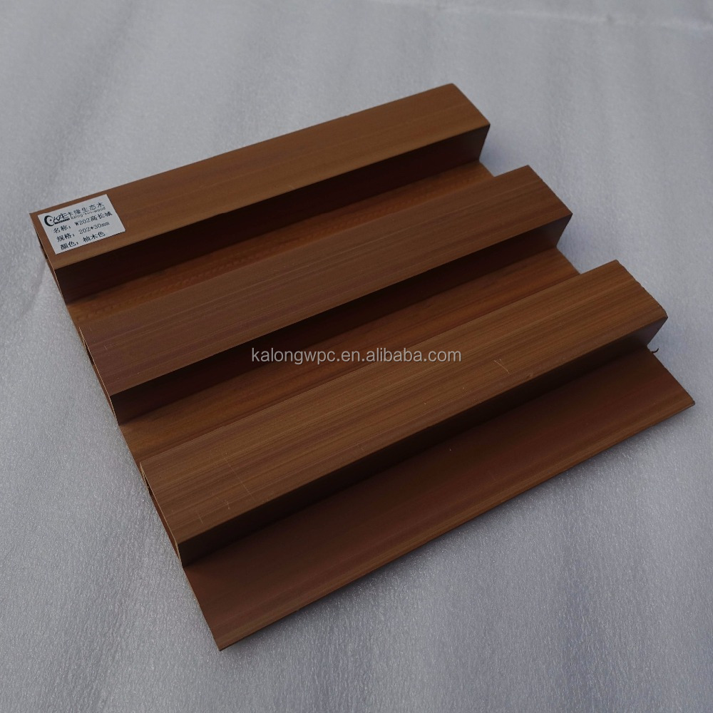 Exterior pvc wood look wall paneling for house