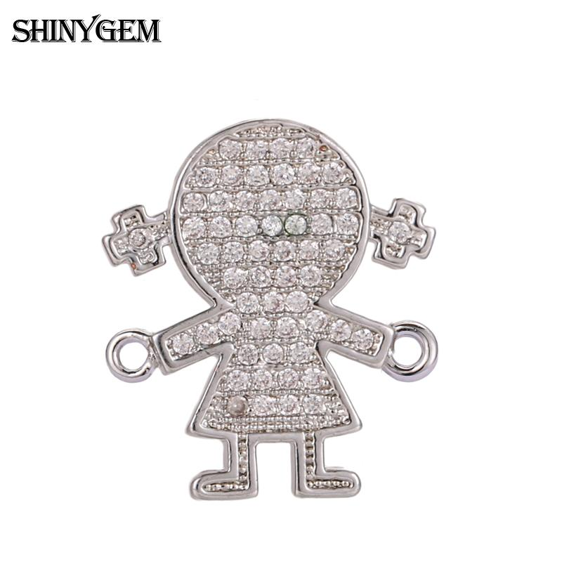 Wholesale fashion diamond mirco pave cz connector pendant jewelry findings accessories for bracelet necklace making