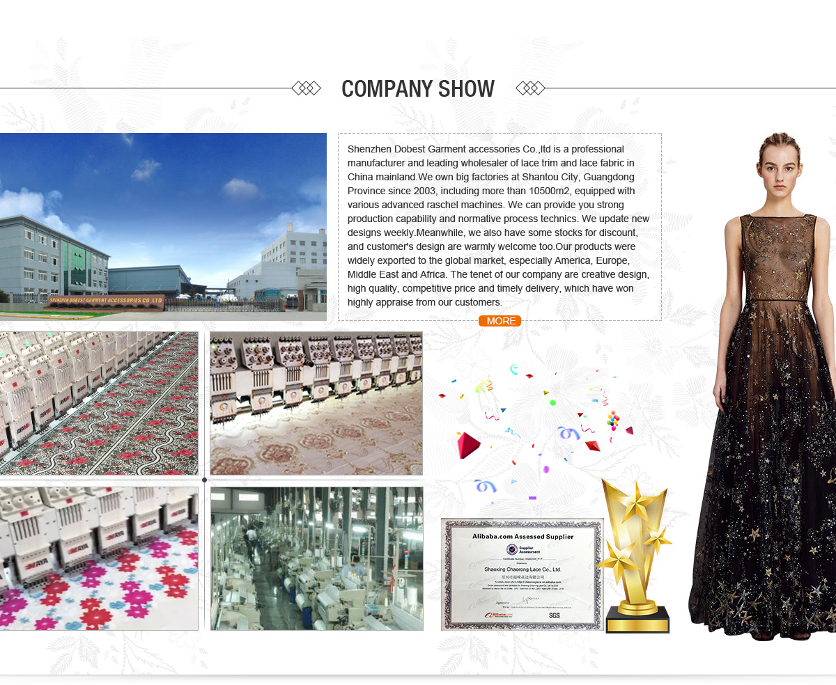 Shenzhen Dobest Garment Accessories Co., Ltd. - Embroidery lace ...
