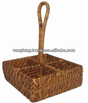Rattan wine basket, wicker basket, wine box