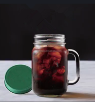 500ml disposable mason jar with handle