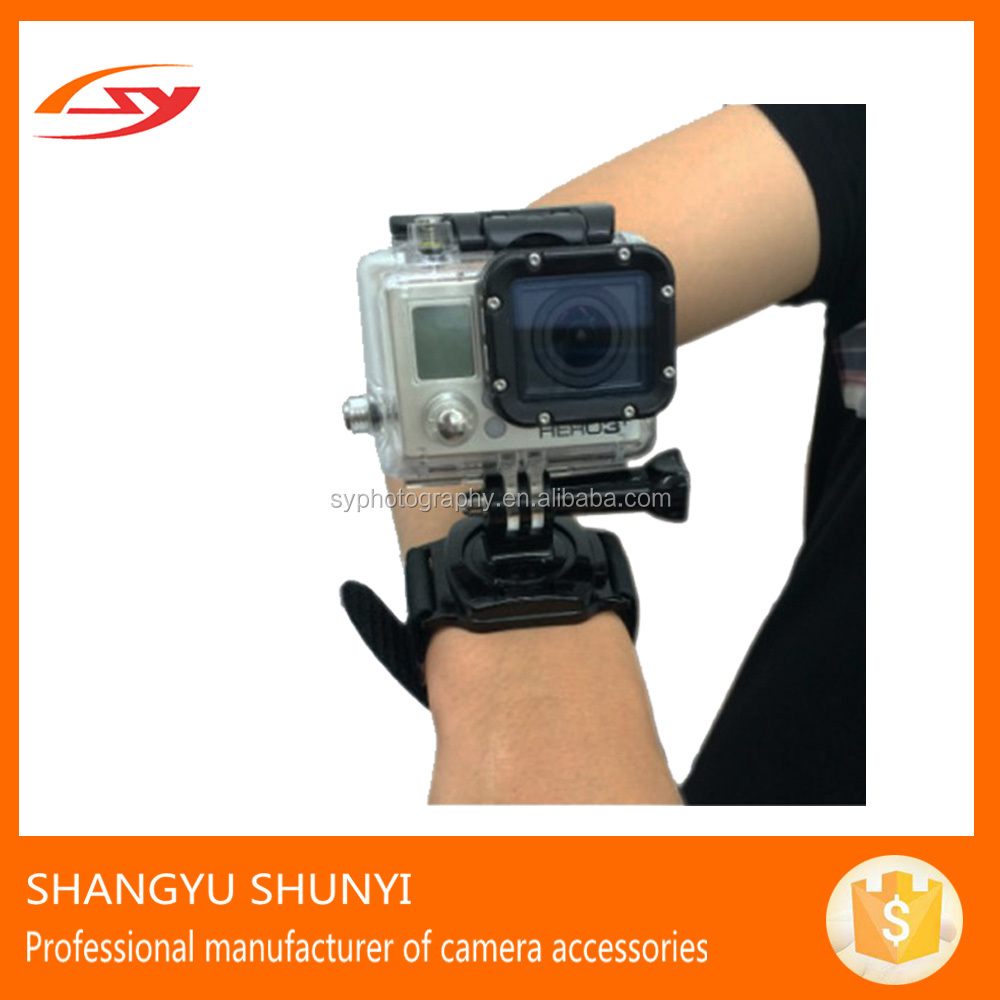 OEM Sports Camera Accessories Go Pro Leather Wrist Band