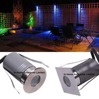 1W Mini Led Underground Light RGB IP67 Garden Outdoor Lighting