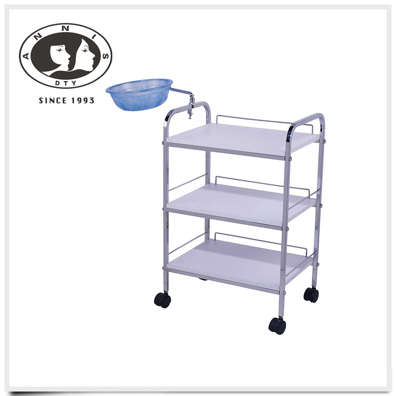 DTY 2016 hot sale beauty salon cheap hairdressing white color trolleys