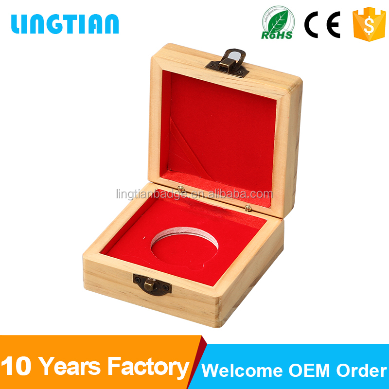Factory custom logo commemorative coin gift box,coin display box