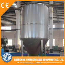 Stainless steel conical fermenter with dimple cooling jacket