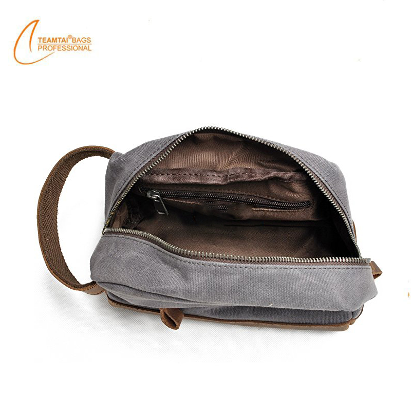 Waxed Canvas Dopp Kit Travel Toiletry Organizer Bag