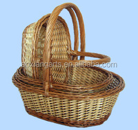 wholesale cheap wicker basket with handle