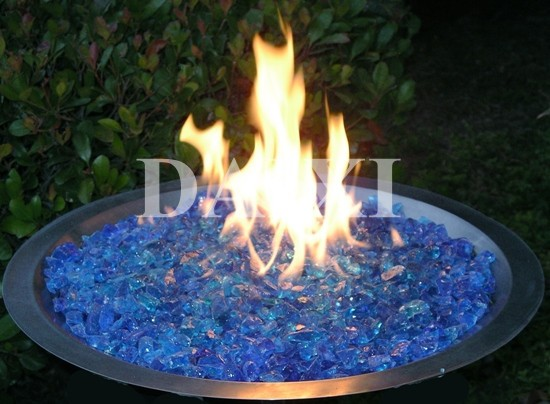 China color fire pit glass