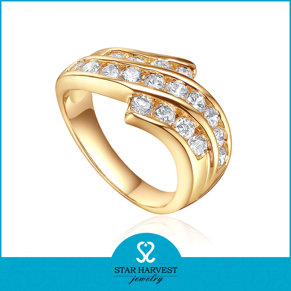 18k gold plating gents diamond ring design