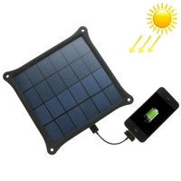 In Stock A4W 4.2W 5.0V/ 0.8A Solar Panel Charger(Black)
