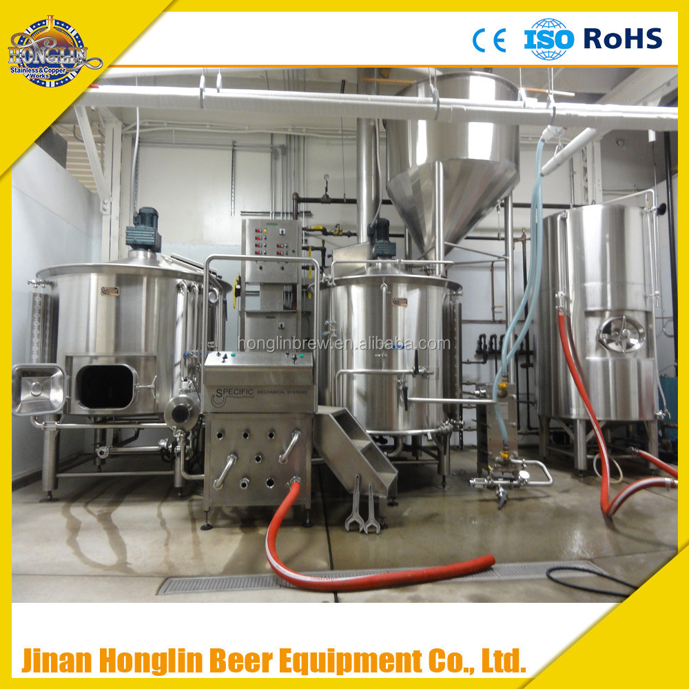 15bbl two vessels Beer Brewery Equipment/micro beer brewing system steam boiler with full automatic control