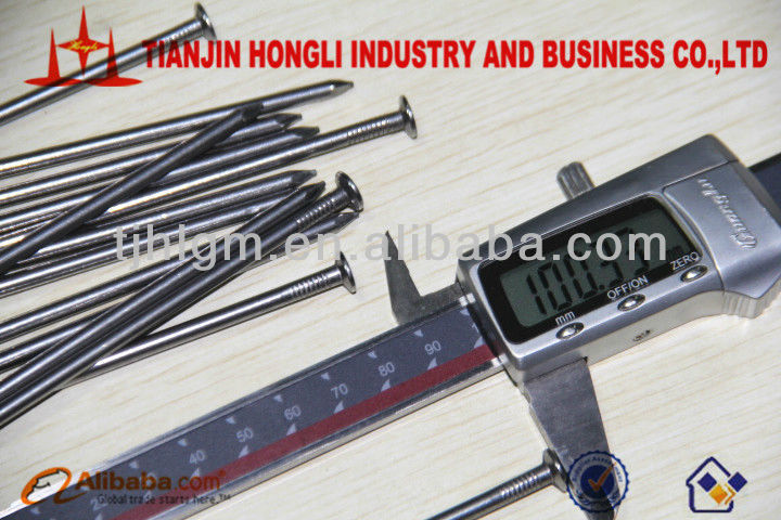 Length 100mm Brighed Common Iron Wire Nails