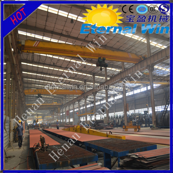 Popular single beam 5ton overhead traveling crane EOT crane