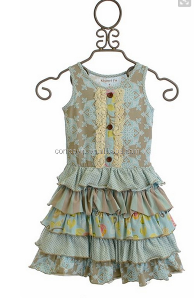 In Stock Traditional Baby Girl Clothing Sets 2-8 Birthday Gresses Girl Princess Dress