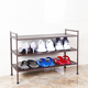 3 tier 6 tiers stackable steel easy to assemble shoe stand rack shelf