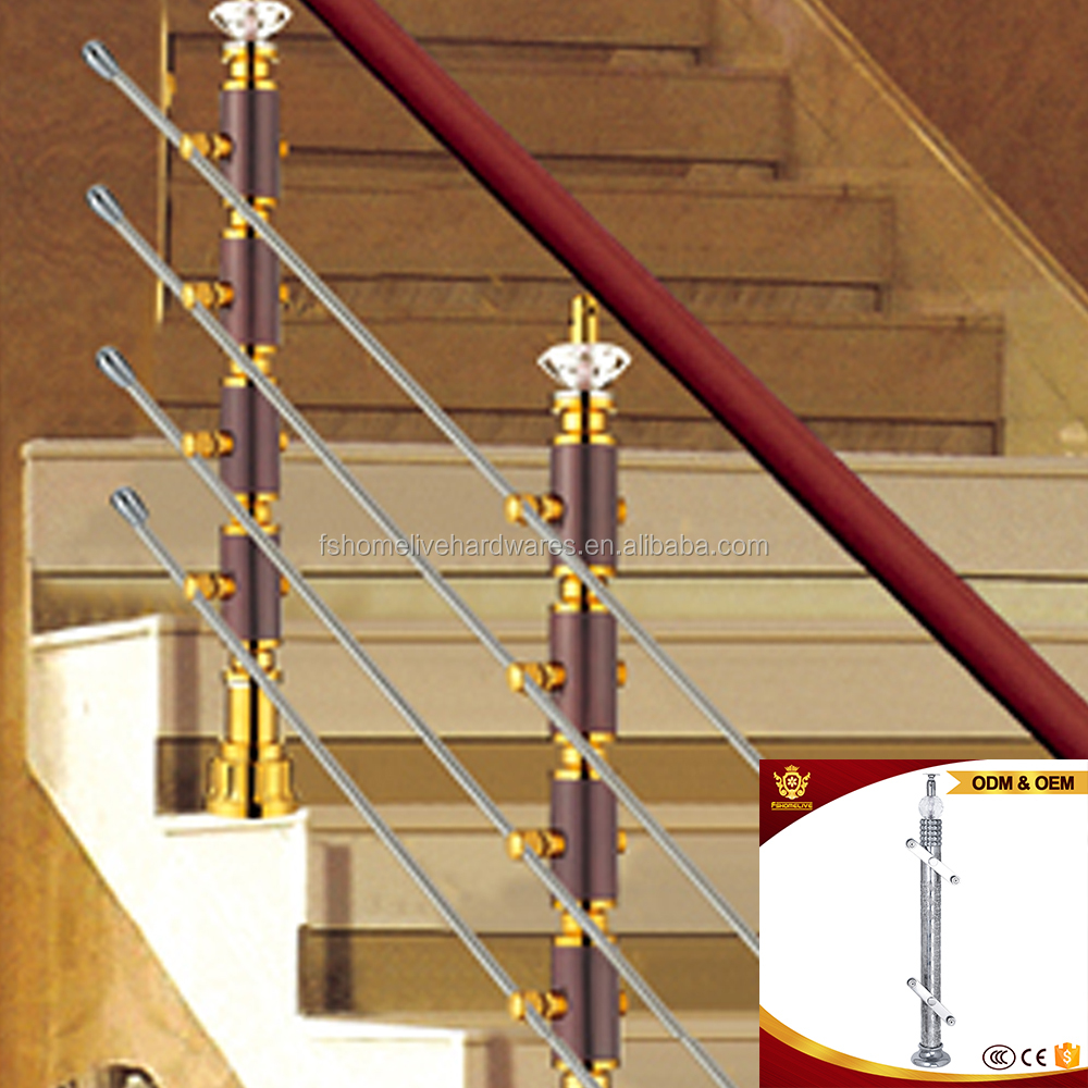 Decoration Balustrade Railings Stainless Steel Stair Banisters Modern Decorative Balusters