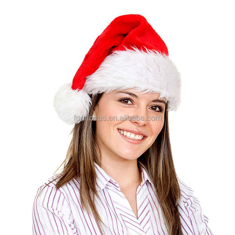 Funny custom decorated christmas hat Merry Christmas fashion Santa hat