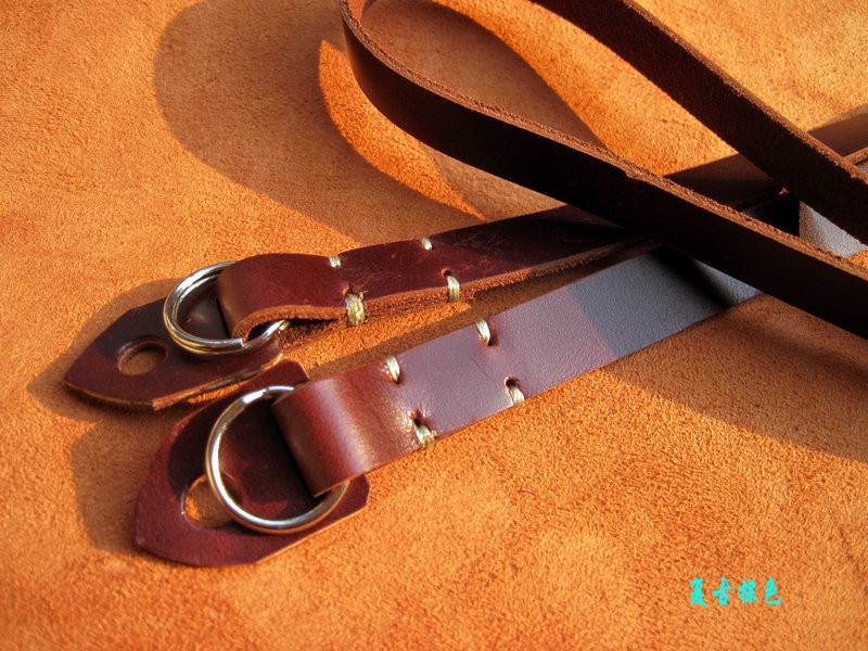 high quality genuine leather handmade cute camera straps