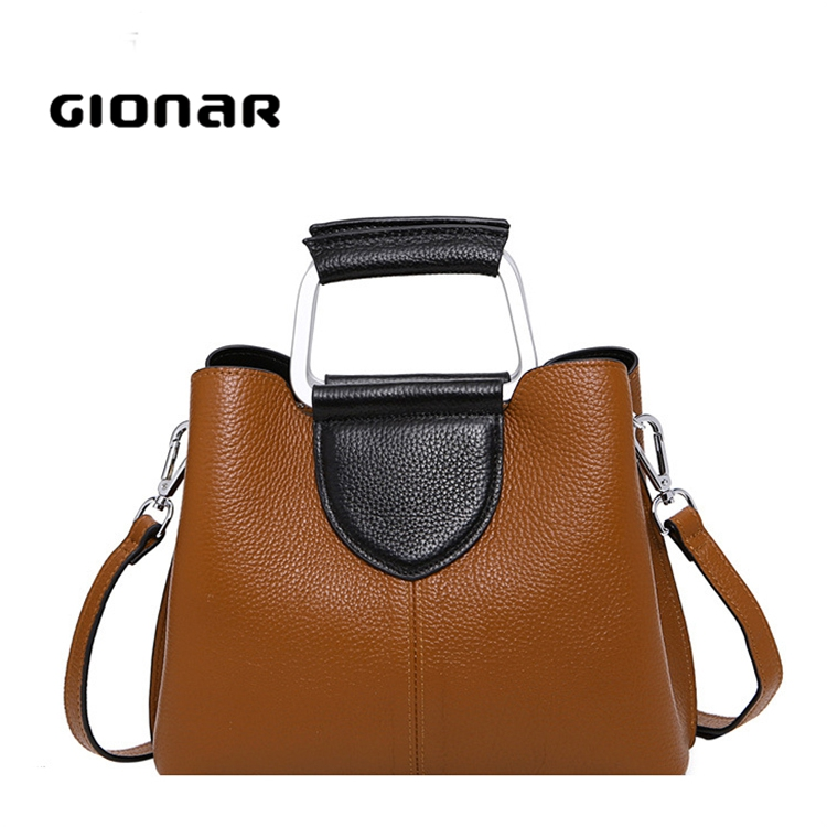 Online Market Branded Luxury Unique Shape Private Label Leather Handbags