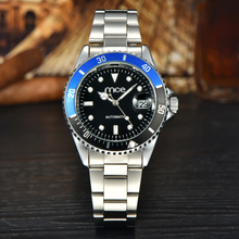 MCE Branded Luxury Automatic Waterproof Stainless Steel Black Dial Mechanical Wrist Watch Man