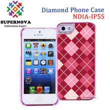 Sublimation Rhinestone Casing for iPhone 5 5s, Custom Design Cell Case