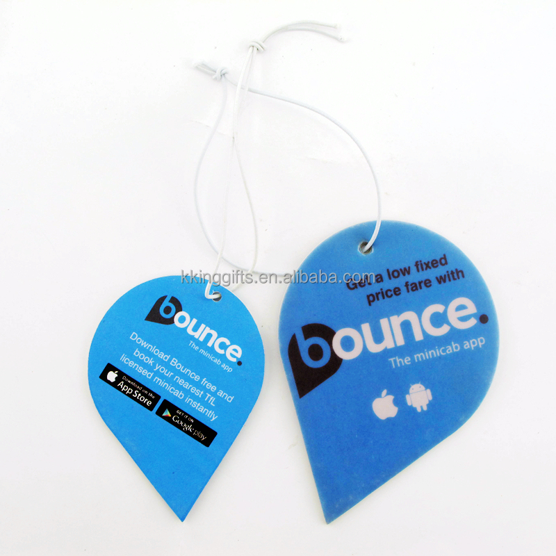 Customized make novelty name brand printed your own logo air freshener for car