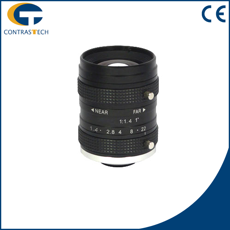 "ContrasTech C-Mount 75mm f/1.8-16 1"" Format 10MP LEM Series Fixed Focal Lens"