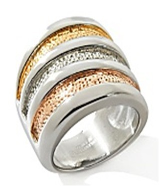 Fashion Jewelry Latest Gold Stainless Steel Men's Crystal Ring Designs ZZR109
