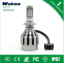 Car accessories new products H7 2000 lumen led headlight conversion kit 6500k white light Bulbs car lamps