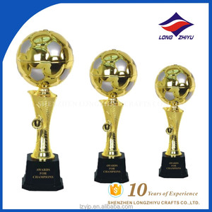 Plastic base custom design football metal cup trophy