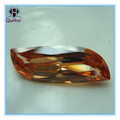 charming irregular shaped champagne cubic zirconia stone