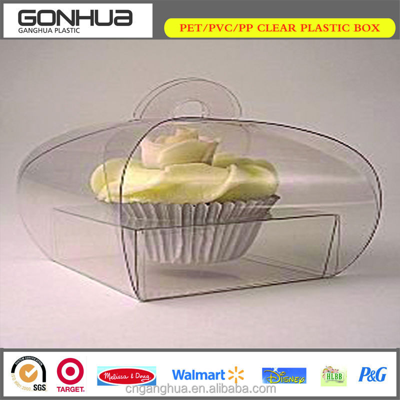 Made in China factory plastic pvc waterproof box insert clear blister tray mini plastic clear PVC cupcake boxes for weddings