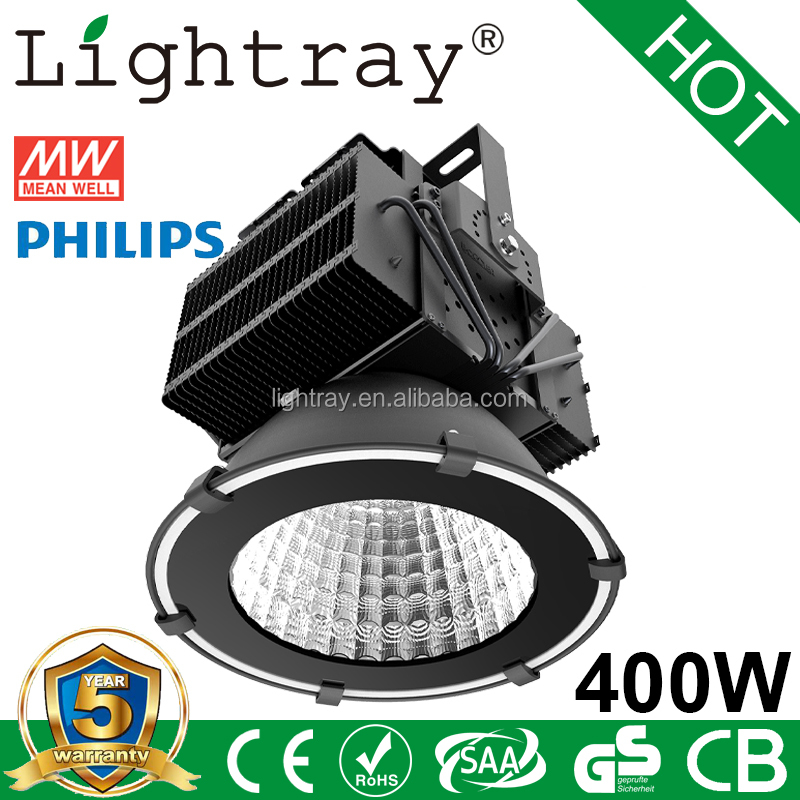 Project led high bay light 400w with philips lighting and meanwell driver 5Years