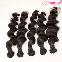 100% unprocessed peruvian human hair,wholesale virgin remy hair wavy hair extension