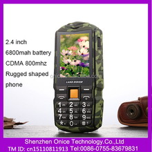 M19 MP3,MP4, FM Radio Bluetooth cheap price small size mobile phone CDMA800 MHZ support Power bank phone Land Rover