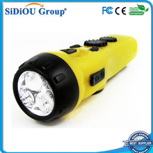 dynamo hand crank flashlight am/fm radio with led flashlight
