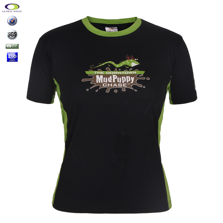 Custom Shenzhen Blank Bamboo Green Collar V Neck T Shirt