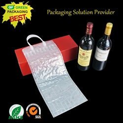 wine bottle air bag transport protective shock resistant cushion hand bag packaging/air filled bags packaging