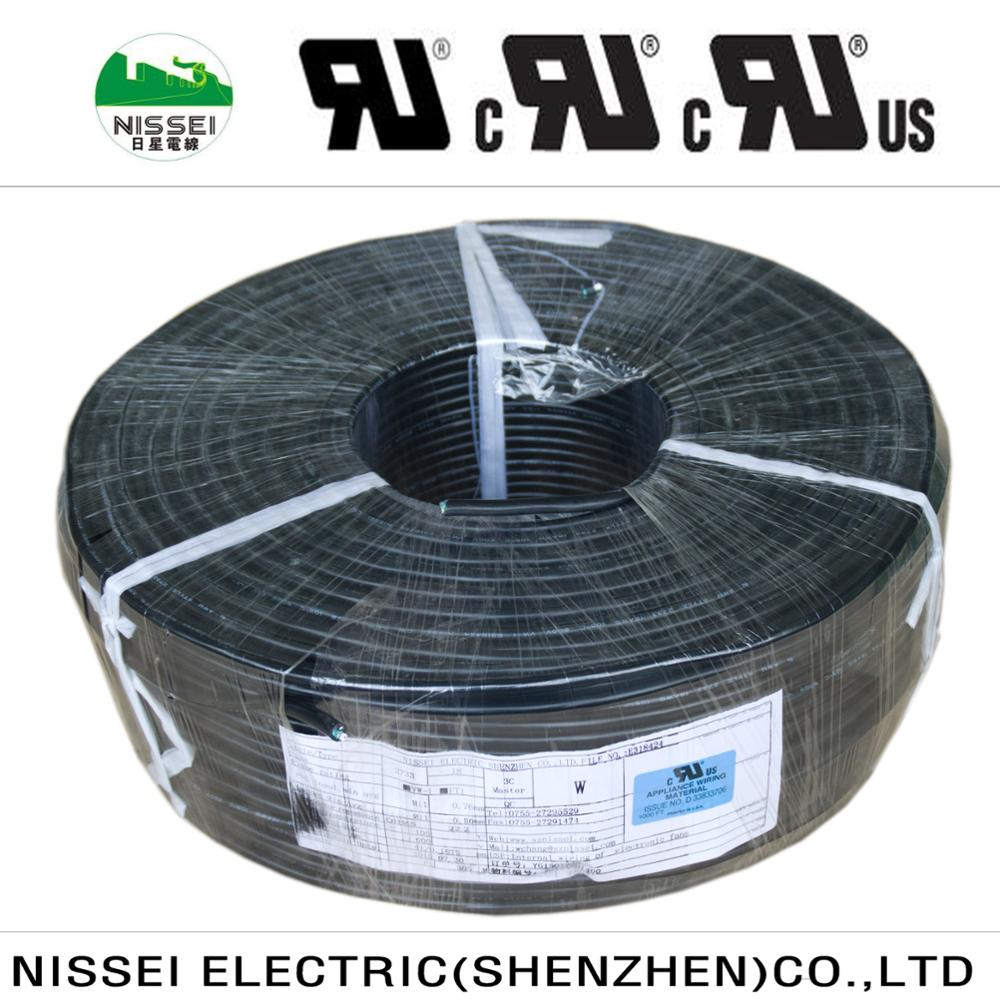 Heat <strong>Resistance</strong> PVC Sheathed 18awg 3 Conductor Copper Electric Cable UL2733