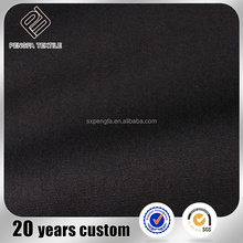 factory wholesale 600d polyester fabric in roll, black dobby polyester cotton shirt fabric