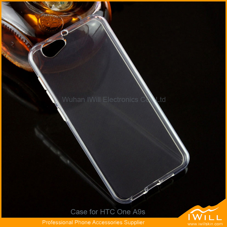 Newest Clear Transparent TPU Rubber Case For HTC One A9S Mobile Cover