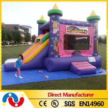 2016 New design infatable bouncer castle commercial inflatable combo slide