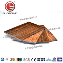 GLOBOND Fireproof Exterior Wood Aluminum Composite Material Decorative Kitchen Wall Panels