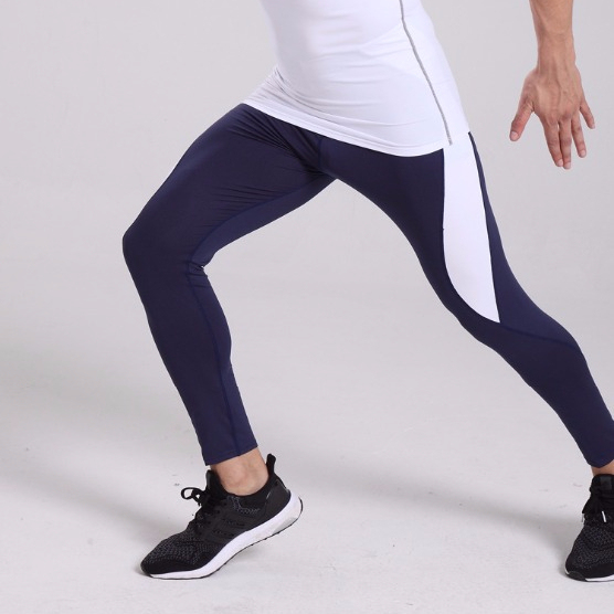 Factory wholesales high quality men's tights compression leggings sports training leggings.