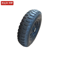 Small diameter trailer tire pneumatic rubber wheel 4.00-8 for wheelbarrow