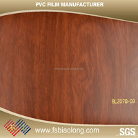 Any Color As You Like matt wood grain solid color pvc film for covering furniture