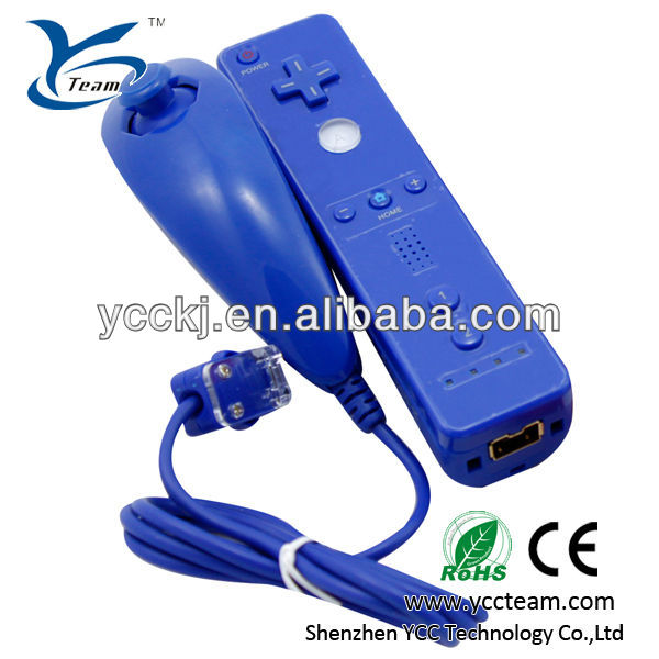 For Wii remote and nunchuck for Nintendo Wii remote and nunchuk for game joystick five colors