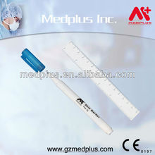 Gamma Ray Disposable Medical Surgical Skin Marker Pen With Standard Ruler